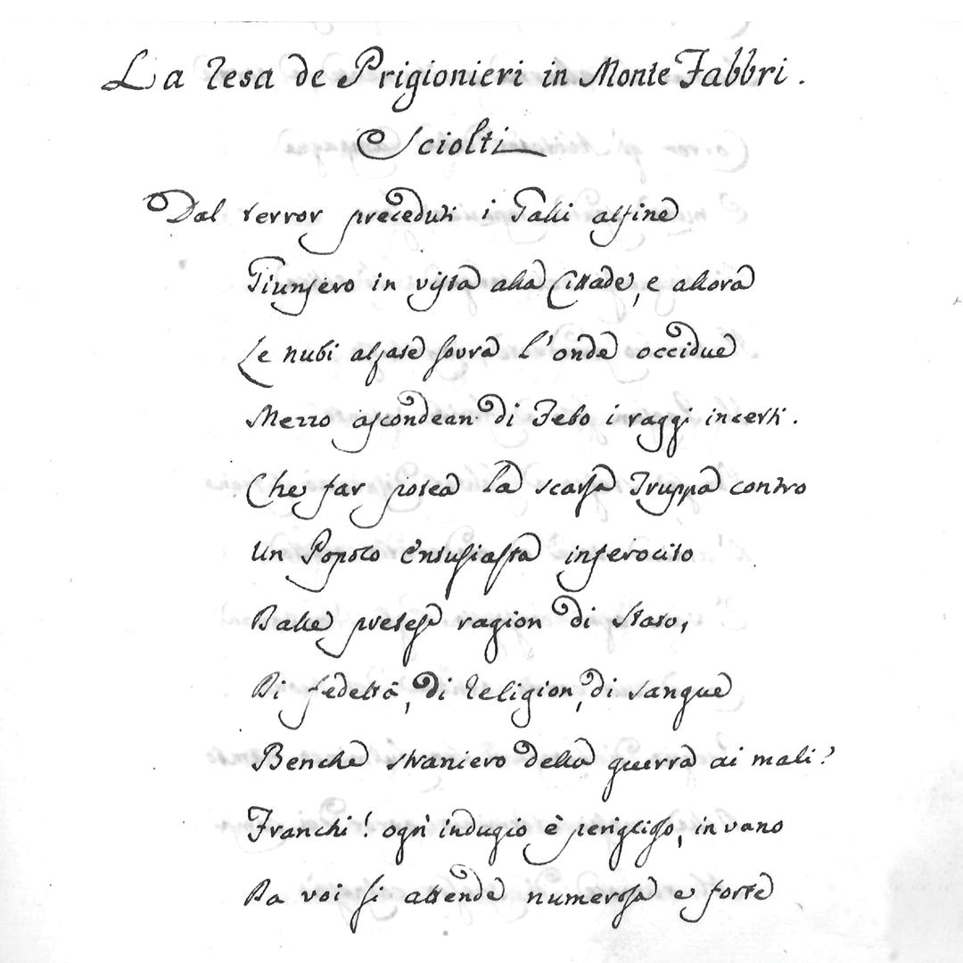 """""""La resa dei prigionieri di Montefabbri"""", 31 Dicembre 1797, Accademia degli Assortiti di Urbino"""