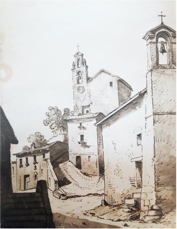 Colbordolo, disegno di Romolo Liverani